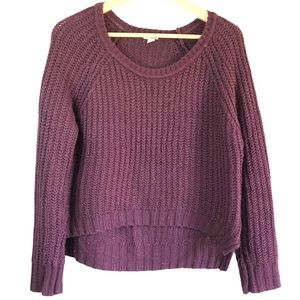 Garage Chunky knit oversized scoop neck sweater